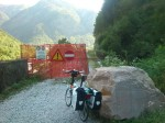 Tag 1: Pontebba Radweg - Kletterpassage links runter