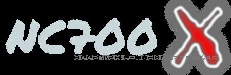 Stylingelement NC700X Schriftzug
