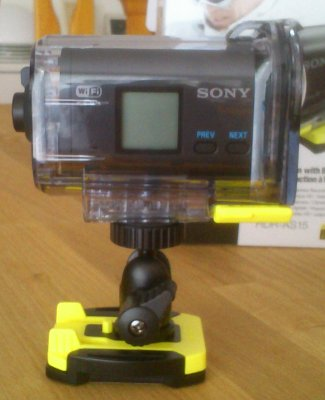 Sony Actioncam HDR-AS15, Kugelkopfhalter