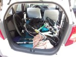 Streetstepper und Mountainbike in Honda Jazz