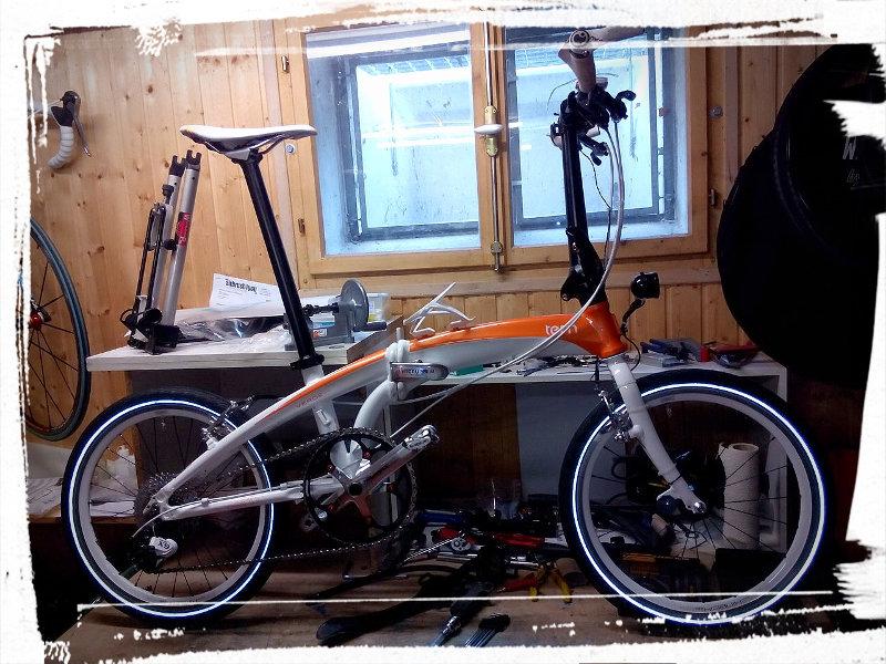 Tern Verge X10 mit Eigenbau-Radsatz