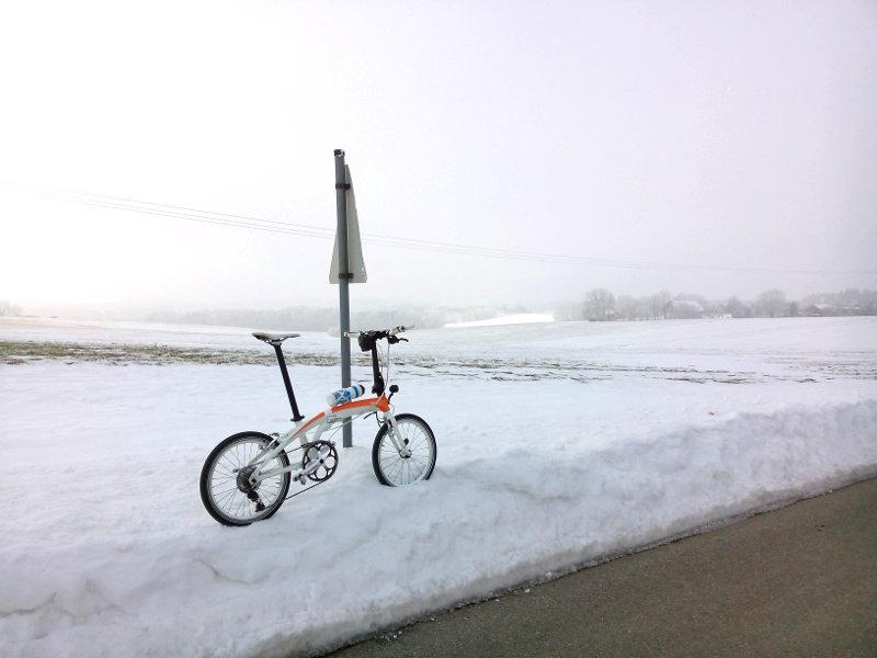 Tern Verge X10 Faltrad im Winter am Ranzenberg