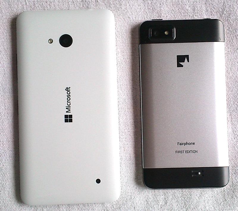 Fairphone 1 vs. Microsoft Lumia 640