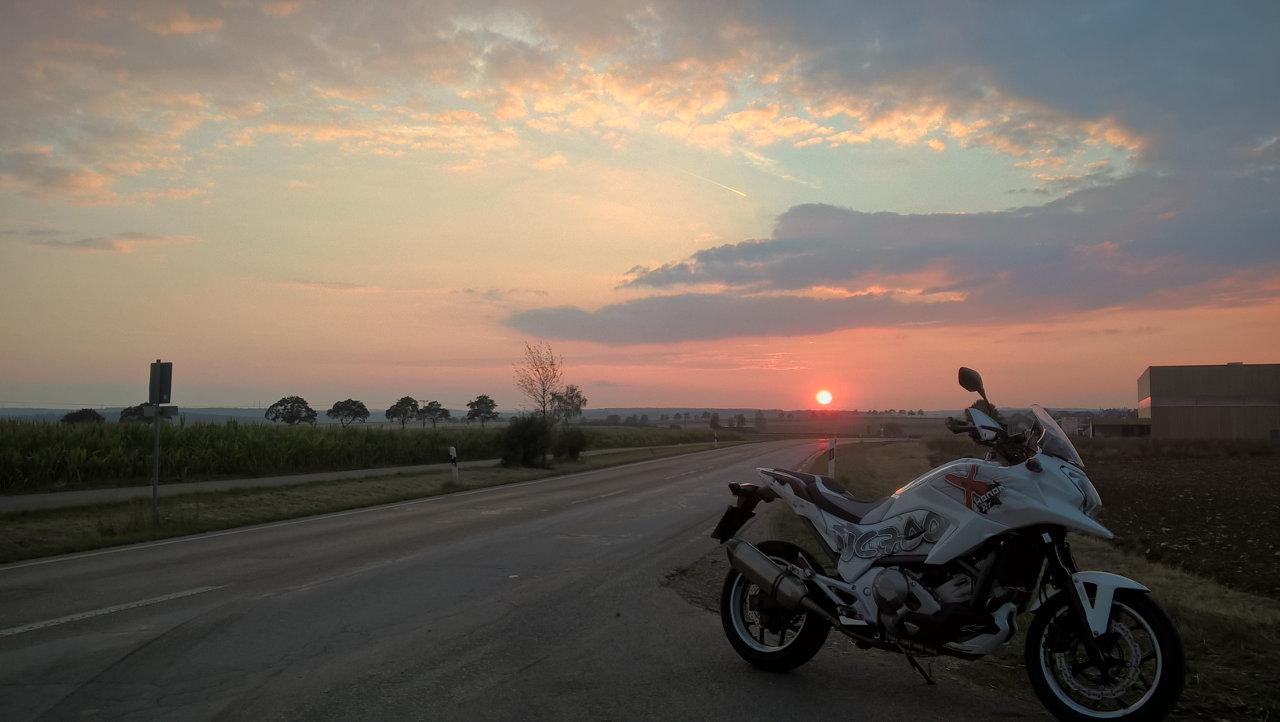 Rückweg von Schorndorf mit Honda NC700X