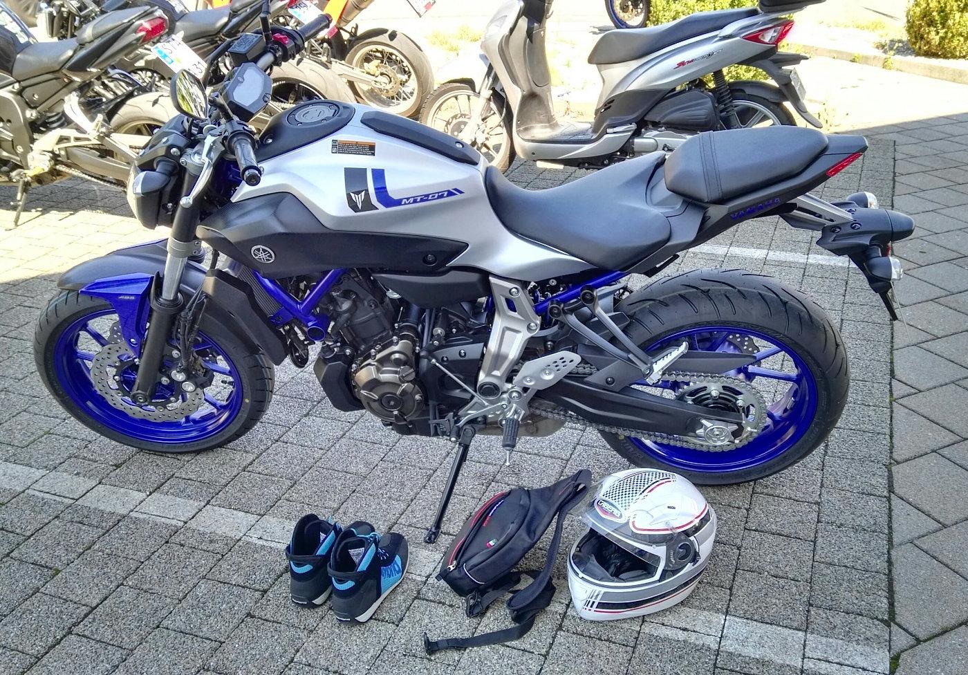 Fahrzeugübergabe Yamaha MT-07