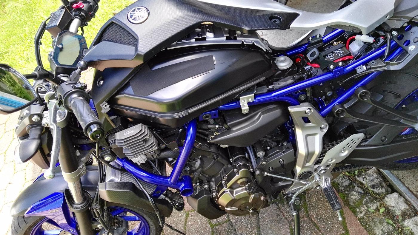 Yamaha MT-07 linke Seite